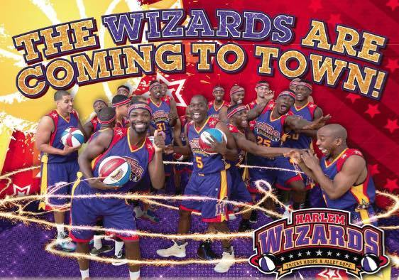 The wizards are coming to town. Harlem Wizards